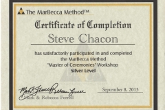 Steve Chacon Silver Master Of Ceremonies Training