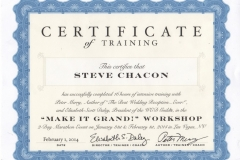 Steve Chacon Grand Entrance Training